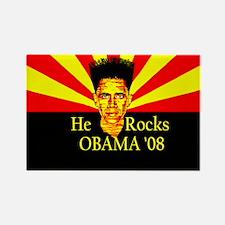 Obama He Rocks Rectangle Magnet