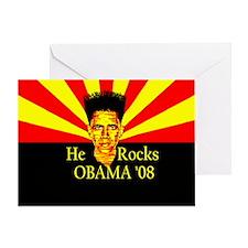Obama He Rocks Greeting Card