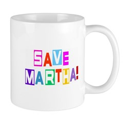 Save Martha! Retro Mug