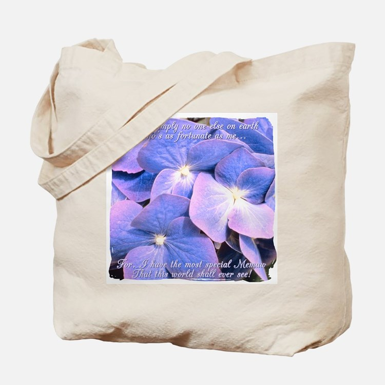 Memaw Hydrangea Tote Bag