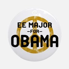EE Major for Obama Ornament (Round)