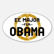 EE Major for Obama Oval Decal