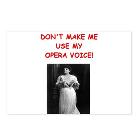 mom opera voice Postcards (Package of 8)