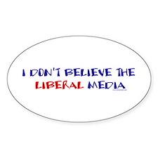 Liberal Media Oval Sticker (10 pk)