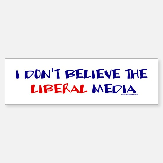 Liberal Media Bumper Bumper Bumper Sticker