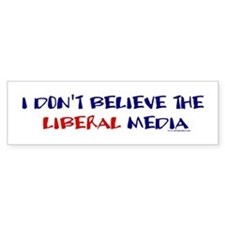 Liberal Media Bumper Car Car Sticker
