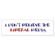 Liberal Media Bumper Car Sticker
