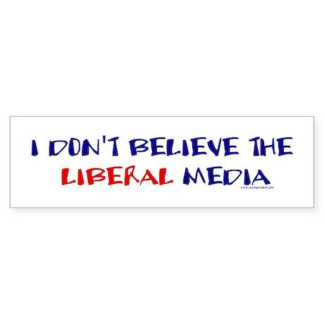 Liberal Media Bumper Sticker