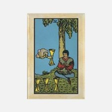 Four of Cups Tarot Rectangle Magnet