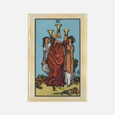 Three of Cups Tarot Rectangle Magnet