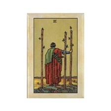 Three of Wands Rectangle Magnet