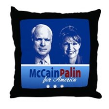 McCain Palin for America Throw Pillow