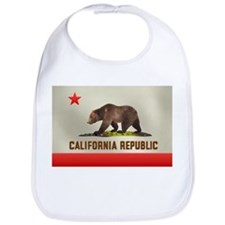 California Bear Flag Bib