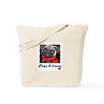 PUGS AND KISSES Tote Bag