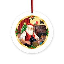 Santa 1G /G Shep #14 Ornament (Round)