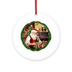 Santa2F/ Welsh Terrier Ornament (Round)