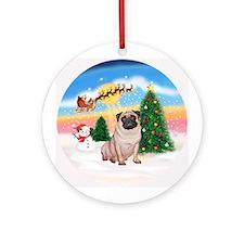 TakeOff1W/ Pug #11 Ornament (Round)