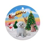 TakeOff1W/ Maltese Ornament (Round)