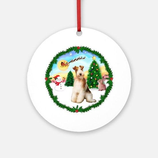 TakeOff1W/ Wire Fox Terrier #3 Ornament (Round)