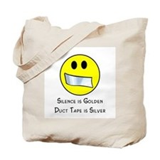 Duct Tape is Silver Tote Bag