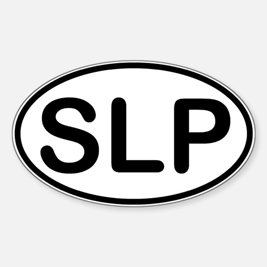 Speech Language Pathologist Oval Decal