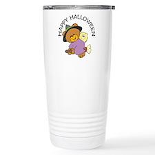 Halloween Bear Witch Ceramic Travel Mug