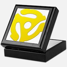 Yellow 45 RPM Adapter Keepsake Box