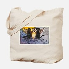 Halloween Wise Cats and Owl Tote Bag