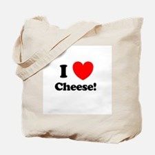 I Love Cheese Tote Bag