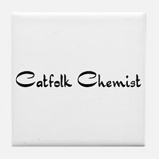 Catfolk Chemist Tile Coaster