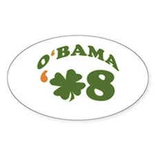 OBAMA IRISH 08 Oval Decal