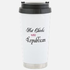 Funny Hot chicks vote republican Travel Mug