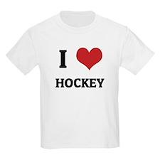 I Love Hockey Kids T-Shirt