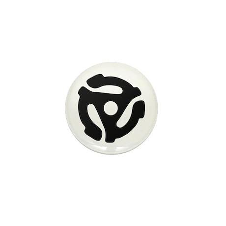 Black 45 RPM Adapter Mini Button (100 pack)