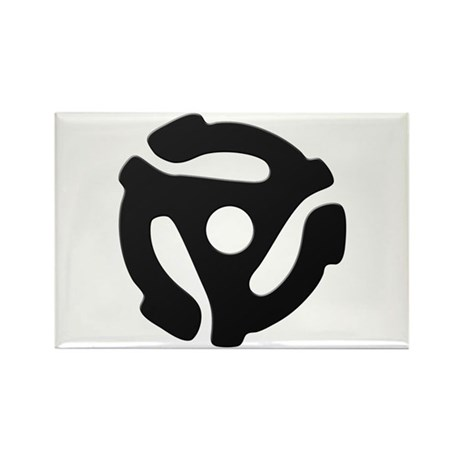 Black 45 RPM Adapter Rectangle Magnet (100 pack)