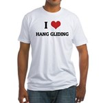 I Love Hang gliding Fitted T-Shirt
