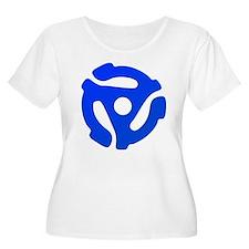 Blue 45 RPM Adapter T-Shirt