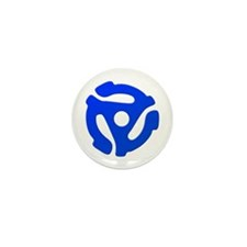 Blue 45 RPM Adapter Mini Button (100 pack)