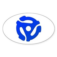 Blue 45 RPM Adapter Oval Decal