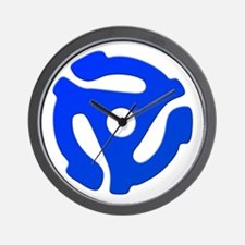 Blue 45 RPM Adapter Wall Clock