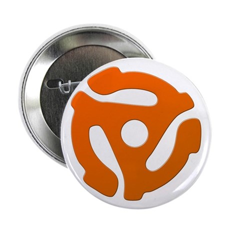 "Orange 45 RPM Adapter 2.25"" Button (10 pack)"