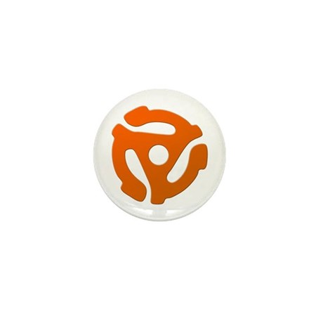 Orange 45 RPM Adapter Mini Button (100 pack)