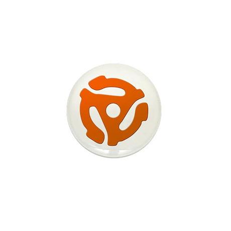 Orange 45 RPM Adapter Mini Button (10 pack)