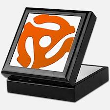 Orange 45 RPM Adapter Keepsake Box