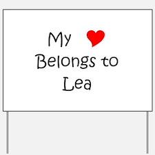 Cute Lea Yard Sign