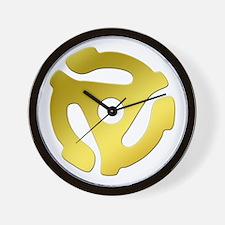 Gold 45 RPM Adapter Wall Clock
