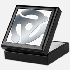 Silver 45 RPM Adapter Keepsake Box