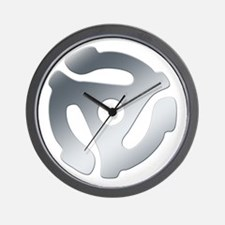 Silver 45 RPM Adapter Wall Clock
