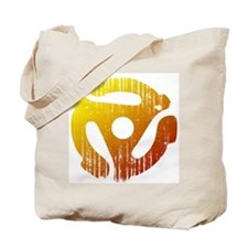 Distressed 45 RPM Adapter Tote Bag