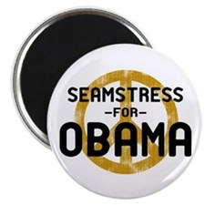 Seamstress for Obama Magnet